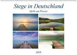 Stege in Deutschland – Idylle am Wasser (Wandkalender 2019 DIN A2 quer) von Wasilewski,  Martin