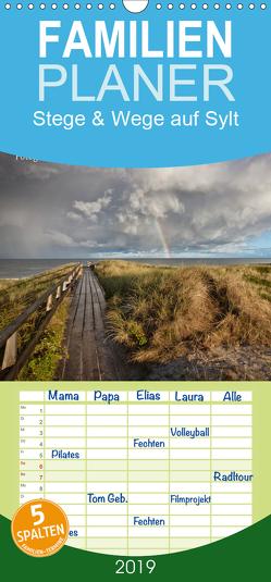 Stege & Wege auf Sylt – Familienplaner hoch (Wandkalender 2019 , 21 cm x 45 cm, hoch) von Zoellner,  Beate