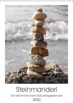 Steinmanderl – Der Steinmännchen Geburtstagskalender (Wandkalender 2020 DIN A2 hoch) von Schimmack,  Michaela
