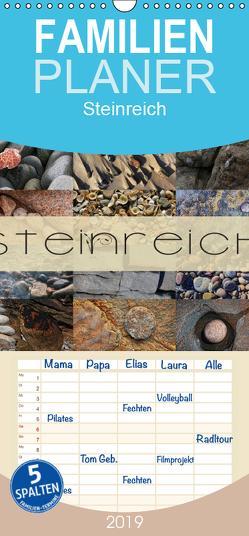 Steinreich – Familienplaner hoch (Wandkalender 2019 , 21 cm x 45 cm, hoch) von Cross,  Martina