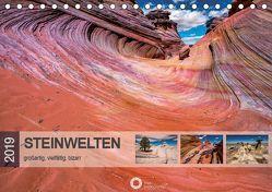 Steinwelten – großartig, vielfältig, bizarr (Tischkalender 2019 DIN A5 quer) von Leipe (leipe photography),  Peter