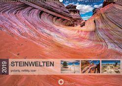 Steinwelten – großartig, vielfältig, bizarr (Wandkalender 2019 DIN A2 quer) von Leipe (leipe photography),  Peter