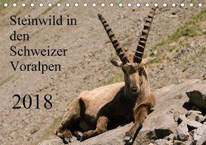 Steinwild in den Schweizer Voralpen (Tischkalender 2018 DIN A5 quer) von W. Saul,  Norbert