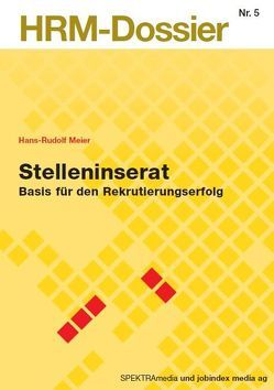 Stelleninserat von Meier,  Hans R