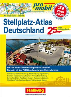 Stellplatz-Atlas Deutschland 2019/ 20120 Jubiläumsausgabe 25 Jahre Promobil von Feyerabend,  Kai