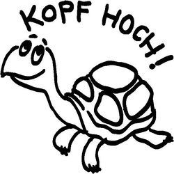 """Stempel """"Kopf hoch!"""""""