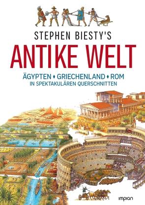 Stephen Biesty's Antike Welt von Biesty,  Stephen, Brandau,  Birgit, Ross,  Stewart, Wurster,  Gaby