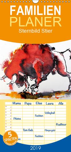 Sternbild Stier – Familienplaner hoch (Wandkalender 2019 , 21 cm x 45 cm, hoch) von Harmgart,  Sigrid