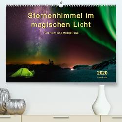 Sternenhimmel im magischen Licht – Polarlicht und Milchstraße (Premium, hochwertiger DIN A2 Wandkalender 2020, Kunstdruck in Hochglanz) von Roder,  Peter