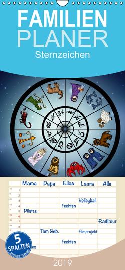 Sternzeichen – Familienplaner hoch (Wandkalender 2019 , 21 cm x 45 cm, hoch) von Creation,  Pezi