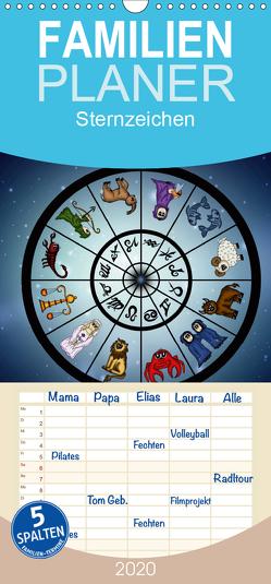 Sternzeichen – Familienplaner hoch (Wandkalender 2020 , 21 cm x 45 cm, hoch) von Creation,  Pezi