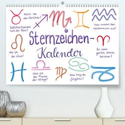Sternzeichen-Kalender (Premium, hochwertiger DIN A2 Wandkalender 2021, Kunstdruck in Hochglanz) von Kleinhans - Kritzelfee,  Martje