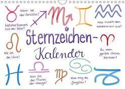 Sternzeichen-Kalender (Wandkalender 2019 DIN A4 quer) von Kleinhans - Kritzelfee,  Martje