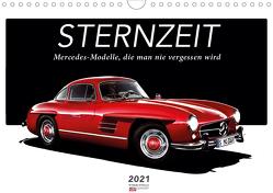 Sternzeit – Mercedes-Modelle, die man nie vergessen wird (Wandkalender 2021 DIN A4 quer) von Ruckaberle und Christof Vieweg,  Harry