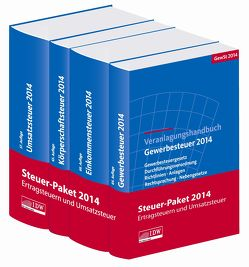 Steuer-Paket 2014: Ertragsteuern und Umsatzsteuer von Boveleth,  Karl-Heinz, Brandenberg,  Hermann, Lennartz,  Manfred, Schmitz,  Georg, van Lishaut,  Ingo, Verweyen,  Barbara, Widmann,  Werner
