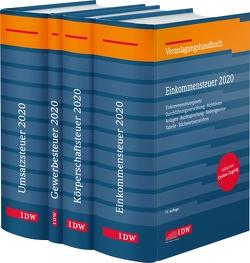Steuer-Paket 2020: Ertragsteuern und Umsatzsteuer von Boveleth,  Karl-Heinz, Brandenberg,  Hermann, Lennartz,  Manfred, Schmitz,  Georg, Stephan,  Filtziger, Thorsten,  Kontny, Widmann,  Werner