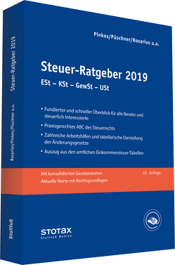 Steuer-Ratgeber 2019 von Boeddinghaus,  Claudia, Henseler,  Frank, Niermann,  Walter, Pinkos,  Erich, Püschner,  Wolfgang, Rosarius,  Lothar, Spahn,  Marcus