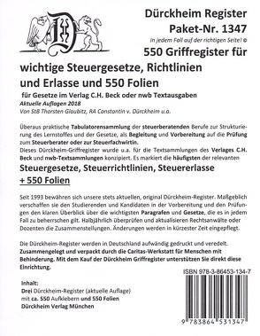 Steuerberater Paket 2-F: Griffregister und Trägerfolien