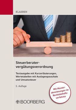Steuerberatervergütungsverordnung von Klaeren,  Michael