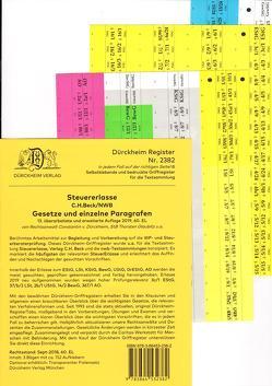 STEUERERLASSE Dürckheim-Griffregister Nr. 2382 (2019/61. EL) von Dürckheim,  Constantin von, Glaubitz,  Thorsten, Knoch,  Simone, Kuhn,  Simon