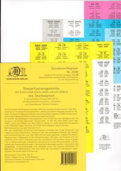 STEUERFACHANGESTELLTE Dürckheim-Griffregister Nr. 2436 (2019/194.EL) mit Stichworten von Dürckheim,  Constantin, Glaubitz,  Thorsten