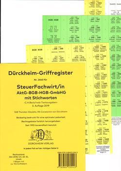 SteuerFachwirt/in – Wirtschaftsgesetze (BGB-HGB-GmbHG) Dürckheim-Register Nr. 2443 mit Stichworten von Dürckheim,  Constantin, Glaubitz,  Thorsten, Hartmann,  Beatrice