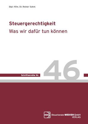 Steuergerechtigkeit von Dr. Sahm,  Reiner