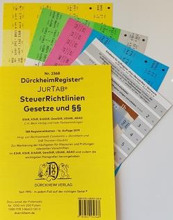 STEUERRICHTLINIEN DürckheimRegister JurTab Nr. 2368 (2019) von Dürckheim,  Constantin, Glaubitz,  Thorsten, Kneveler,  Manuela, Magerowa,  Lenka