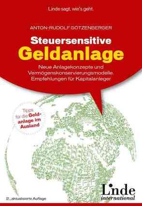 Steuersensitive Geldanlage von Götzenberger,  Anton-Rudolf