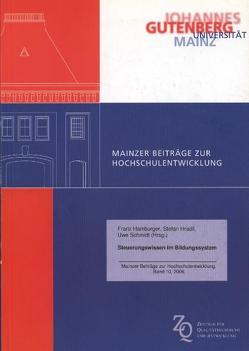 Steuerungswissen im Bildungssystem von Hamburger,  Franz, Hradil,  Stefan, Schmidt,  Uwe