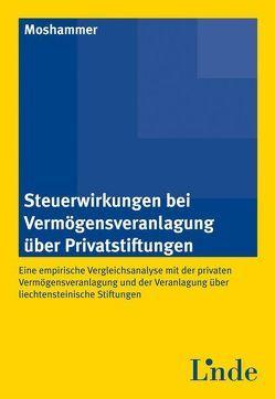 Steuerwirkungen bei Vermögensveranlagung über Privatstiftungen von Moshammer,  Harald
