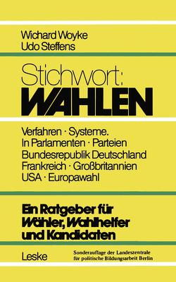 Stichwort: Wahlen von Wichard,  Woyke