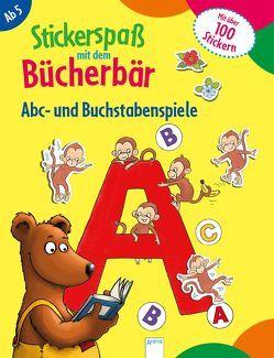 Stickerspaß mit dem Bücherbär. Abc- und Buchstabenspiele von Labuch,  Kristin