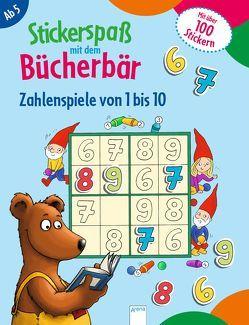 Stickerspaß mit dem Bücherbär. Zahlenspiele von 1 bis 10 von Labuch,  Kristin