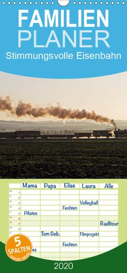 Stimmungsvolle Eisenbahn – Bahnimpressionen aus Österreich – Familienplaner hoch (Wandkalender 2020 , 21 cm x 45 cm, hoch) von rail66