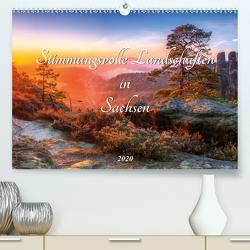 Stimmungsvolle Landschaften in Sachsen 2020 (Premium, hochwertiger DIN A2 Wandkalender 2020, Kunstdruck in Hochglanz) von Beyer (Moqui),  Daniela