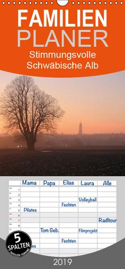 Stimmungsvolle Schwäbische Alb – Familienplaner hoch (Wandkalender 2019 , 21 cm x 45 cm, hoch) von Huschka,  Klaus-Peter