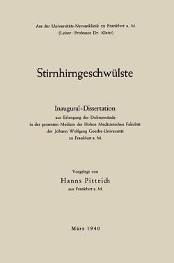 Stirnhirngeschwülste von Pittrich,  Hanns