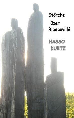 Störche über Ribeauvillé von Kurtz,  Hasso