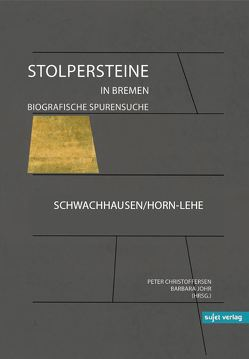 Stolpersteine in Bremen von Christoffersen,  Peter, Johr,  Barbara