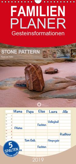 Stone Pattern – Gesteinsformationen – Kunst der Natur – Familienplaner hoch (Wandkalender 2019 , 21 cm x 45 cm, hoch) von Leipe (leipe photography),  Peter