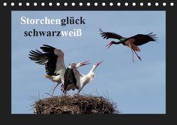 Storchenglück schwarzweiß (Tischkalender 2019 DIN A5 quer) von Bachmeier,  Günter