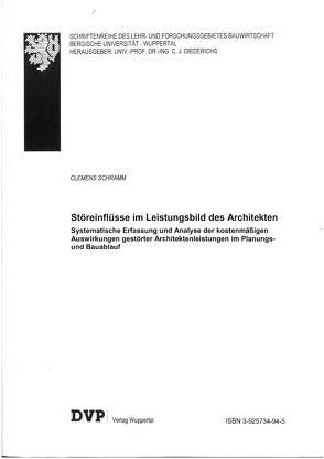 Störeinflüsse im Leistungsbild des Architekten von Schramm,  Clemens