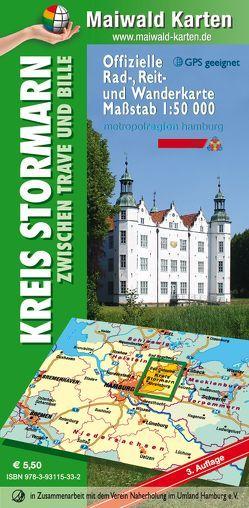 Stormarn = Offizielle Rad-, Reit- u. Wanderkarte Stormarn zwischen Trave und Bille von Maiwald,  Detlef sen. u. Björn jr.