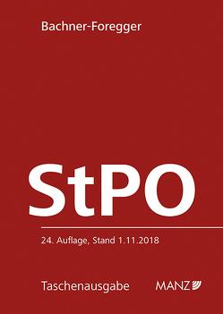 Strafprozessordnung – StPO 1975 von Bachner-Foregger,  Helene