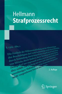 Strafprozessrecht von Hellmann,  Uwe