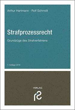 Strafprozessrecht von Hartmann,  Arthur, Schmidt,  Rolf