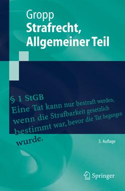 Strafrecht Allgemeiner Teil von Gropp,  Walter