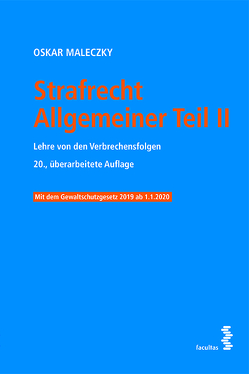 Strafrecht Allgemeiner Teil II von Malezcky,  Oskar