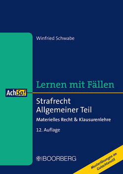 Strafrecht Allgemeiner Teil von Schwabe,  Winfried